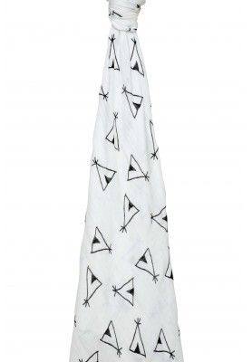 Silky soft swaddle - Teepee Tent