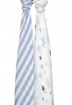 Ocean breeze- silky soft swaddles