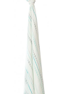 Silky soft swaddle -Coral dreamer